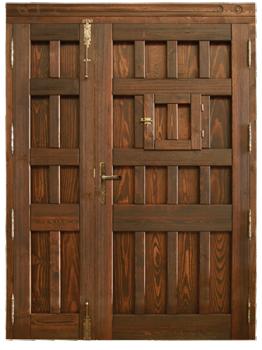 resultado de imagen para puertas rusticas dobles